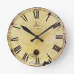 Reloj de pared elegante lamentable del vintage