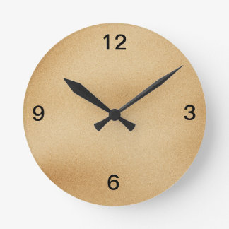 Reloj de pared en color de la arena