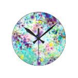 Reloj de pared en colores pastel bonito del arte d