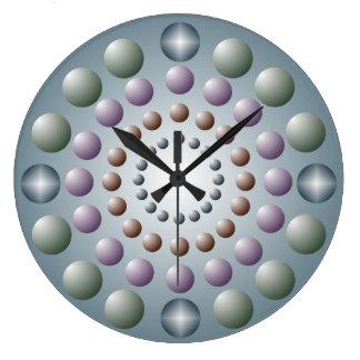 Reloj de pared en colores pastel de la gota del lu