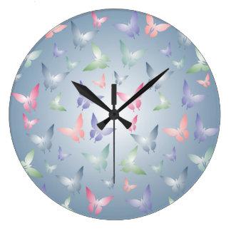 Reloj de pared en colores pastel del modelo de mar