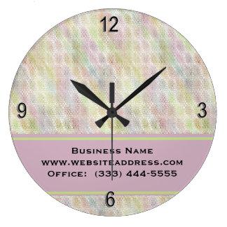 Reloj de pared en colores pastel retro del negocio