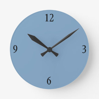 Reloj de pared en gris azul
