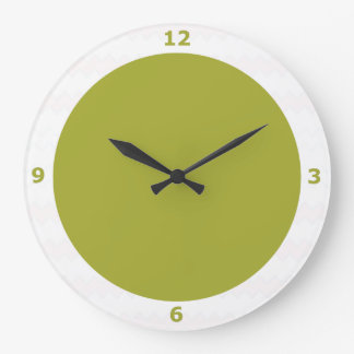 Reloj de pared en pera verde