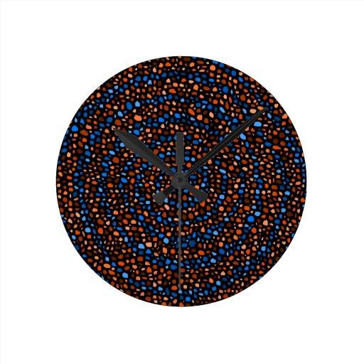 Reloj de pared espiral del arte del mosaico de los