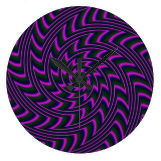 Reloj de pared espiral redondo