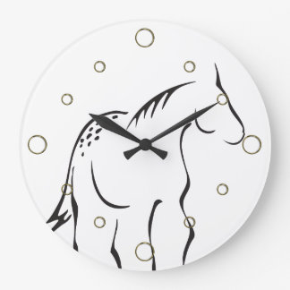 Reloj de pared estilizado del caballo