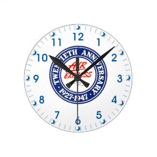 Reloj de pared expreso del aniversario de aire vig