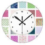 Reloj de pared femenino colorido del modelo de los