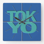 Reloj de pared financiero de Tokio del Timezone de