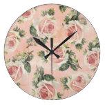 Reloj de pared floral elegante lamentable