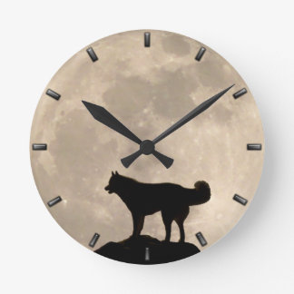Reloj de pared fornido de la Luna Llena de la deco