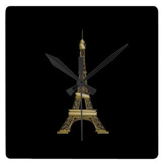 Reloj de pared francés de la torre Eiffel del