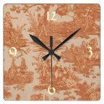 Reloj de pared francés de Toile del país del vinta