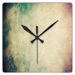 Reloj de pared fresco de la textura del vintage de