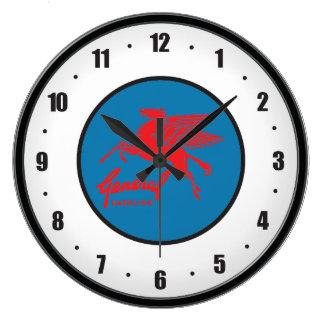 Reloj de pared general del vintage del gas