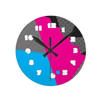 Reloj de pared geométrico 80s