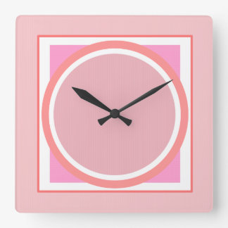 Reloj de pared geométrico rosado del modelo