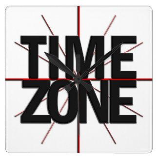 Reloj de pared global del TImezone