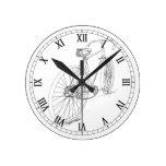 Reloj de pared gráfico de la bicicleta