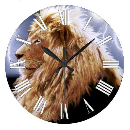 Reloj de pared grande africano del Gato-Amante del