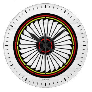 Reloj de pared grande de la floración del nativo a