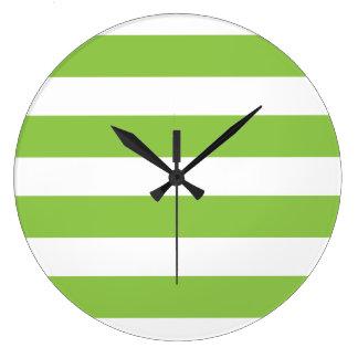 Reloj de pared grande de la verde lima
