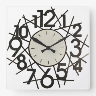 Reloj de pared grande de los números