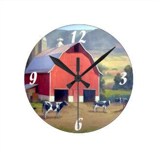 Reloj de pared/granja redondos