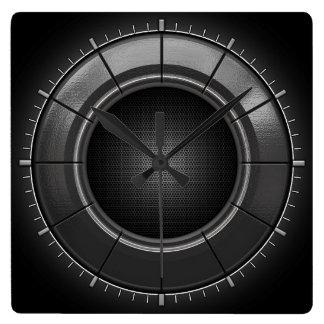 Reloj de pared gris del estilo de Techno del grafi