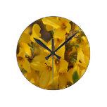 Reloj de pared hermoso del Forsythia