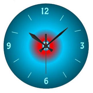 Reloj de pared iluminado del red> del verde de mar