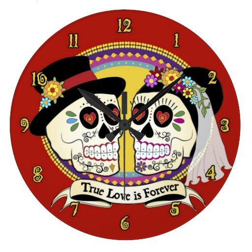 Reloj de pared (inglés) del Los Novios