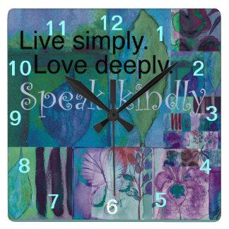 Reloj de pared inspirado