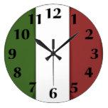 Reloj de pared italiano de la bandera