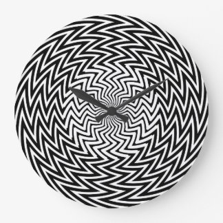 Reloj de pared Jaggy de la ilusión óptica del