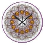 Reloj de pared Jewelled del caleidoscopio