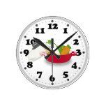 Reloj de pared lindo de la cocina