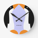 Reloj de pared lindo de los pingüinos de emperador