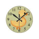 Reloj de pared lindo del anadón para los niños