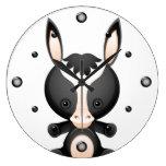 Reloj de pared lindo del burro del bebé