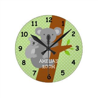 Reloj de pared lindo del cuarto de niños de los