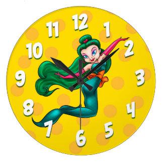 reloj de pared lindo del dibujo animado