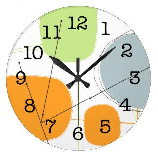 Reloj de pared - los años 50 abstractos inspiraron