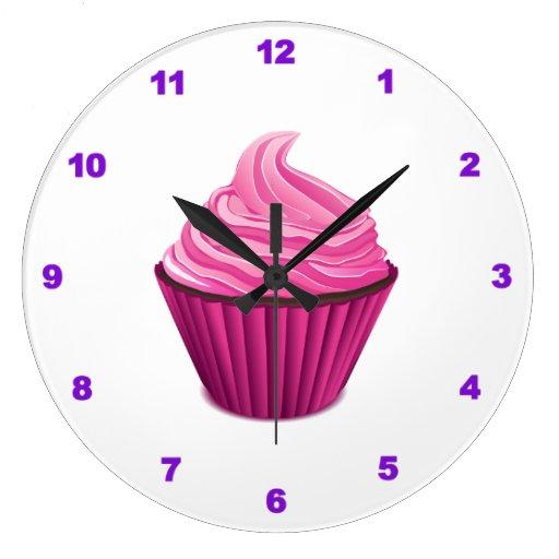 Reloj de pared - magdalena rosada