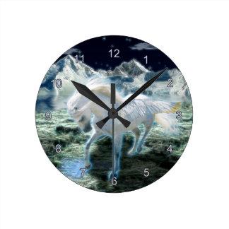 Reloj de pared mágico del arte de la fantasía de P