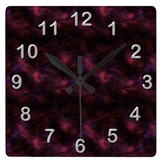 Reloj de pared marrón del fractal