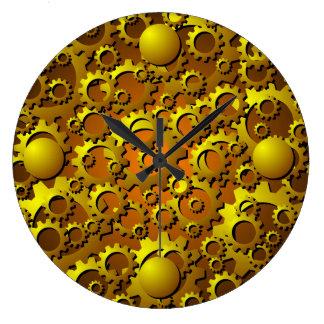 Reloj de pared metálico de los dientes y de los en