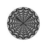 Reloj de pared metálico del Web