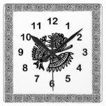 Reloj de pared mexicano del adorno del pájaro